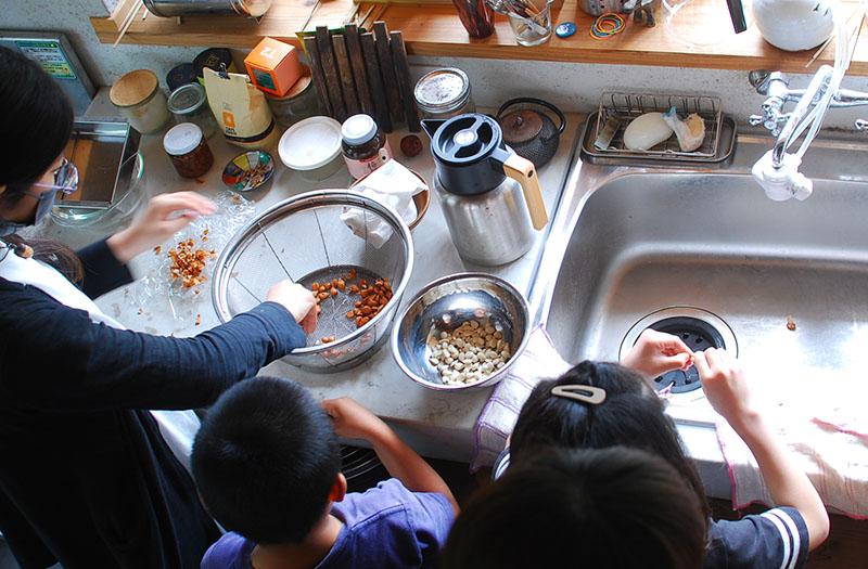 杏仁豆腐作り